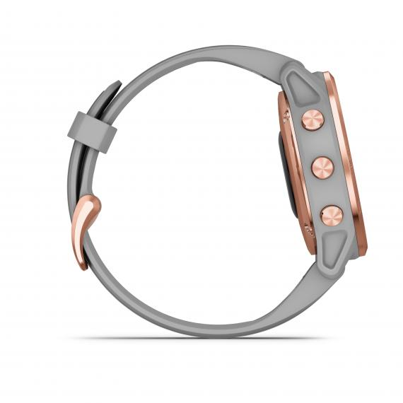 fēnix® 6S Sapphire, Rose Gold-tone with Powder Gray Band